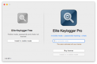 Screenshot #2 of Elite Keylogger for Mac