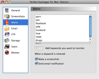 Screenshot #1 of Perfect Keylogger for Mac