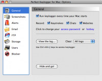 Screenshot #6 of Perfect Keylogger for Mac
