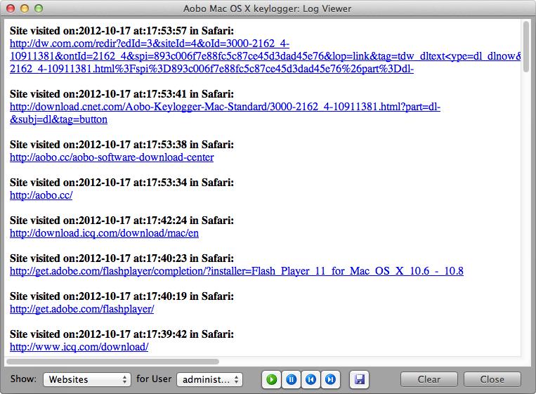 Aobo Mac OS X Keylogger For Mac Standard