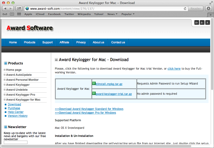 Award Keylogger for Mac 1.6.6 Review