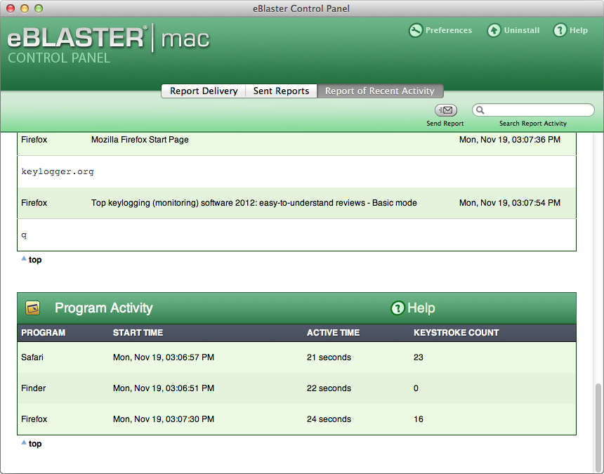 Spectorsoft eblaster software for mac